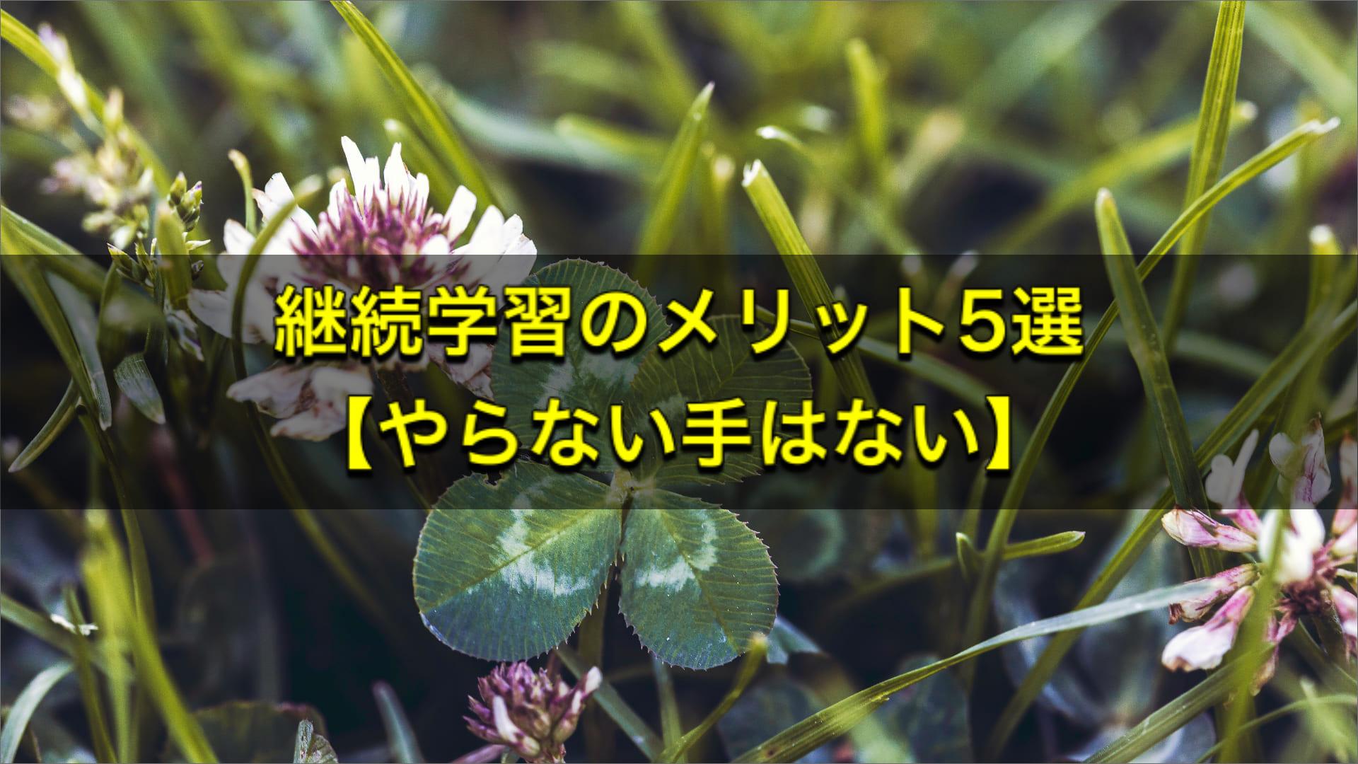 継続学習のメリット5選【やらない手はない】
