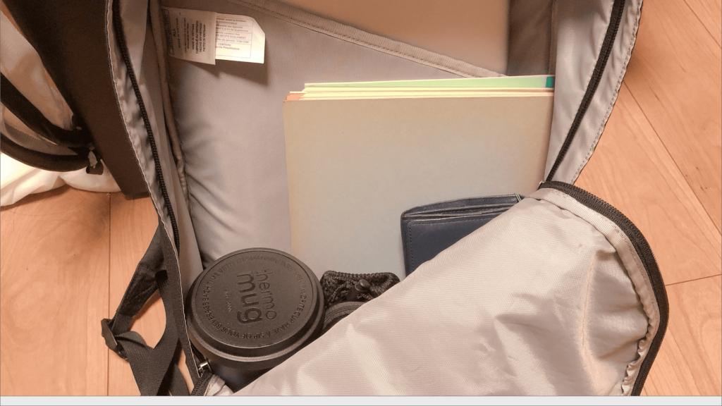 バッグに入れた時のモバイルタンブラーミニ