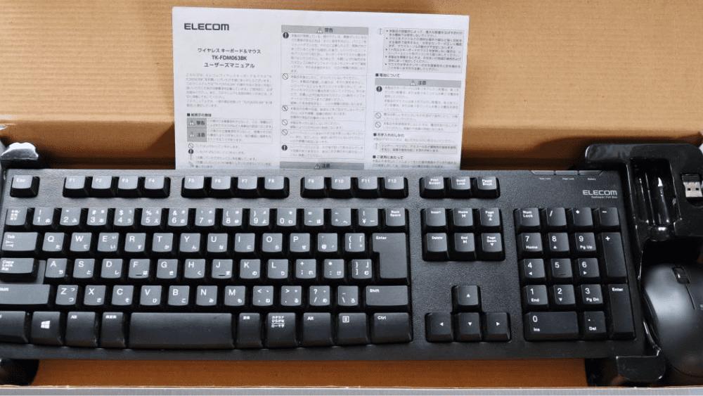 エレコム キーボード 【マウスセット】 TK-FDM063BK